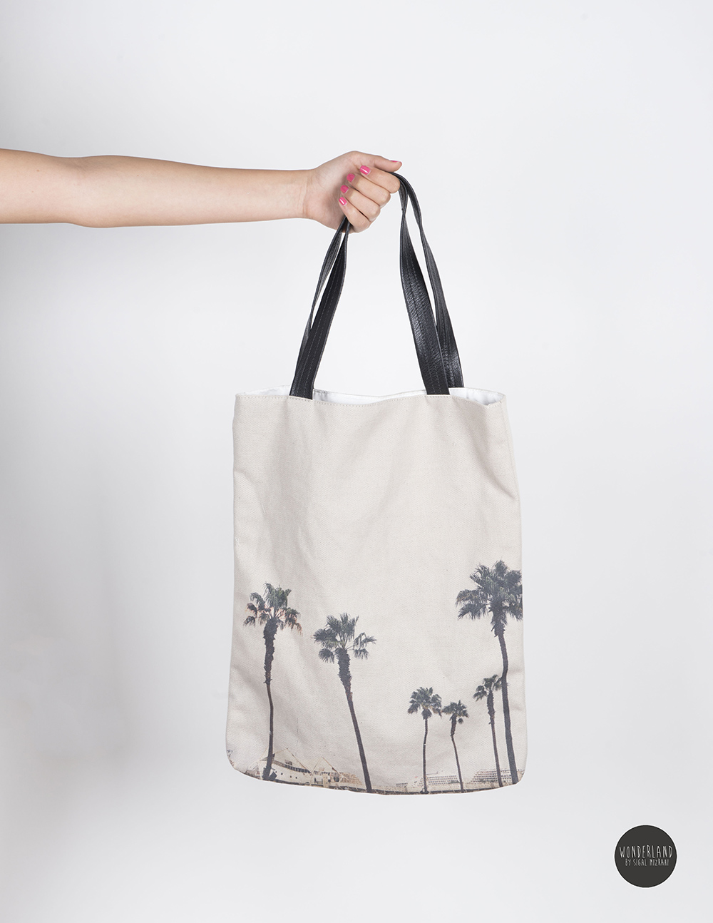 PALMS printed large tote bag