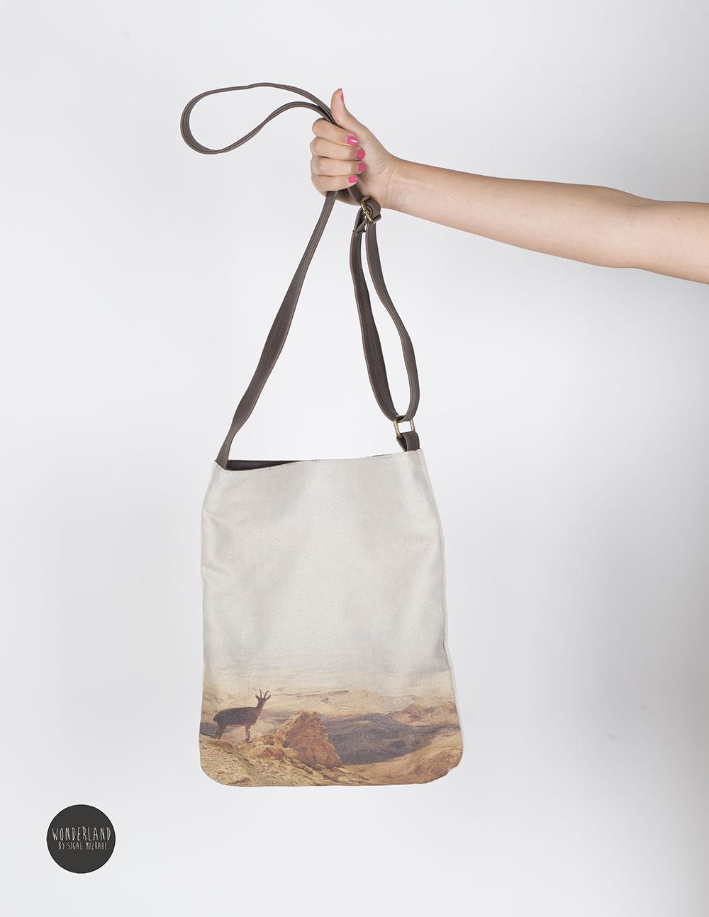 DESERT printed crossbody tote bag