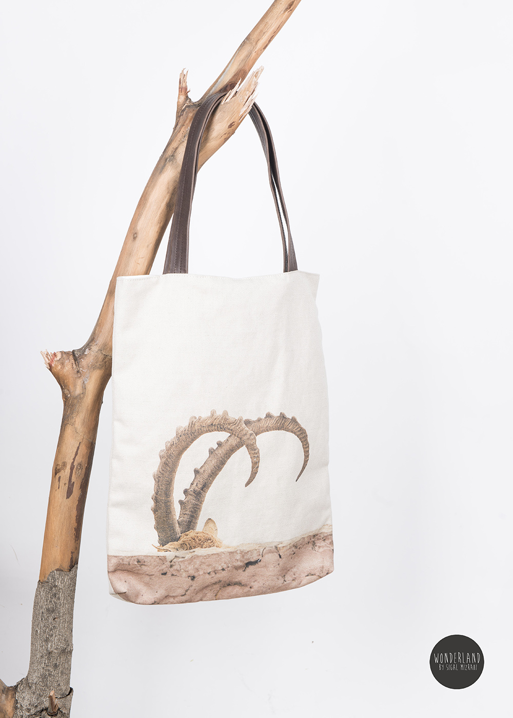 HORNES printed large tote bag