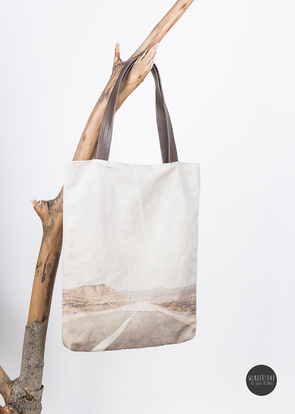 DESERT ROAD printed tote bag